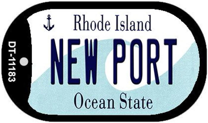 New Port Rhode Island Novelty Metal Dog Tag Necklace DT-11183
