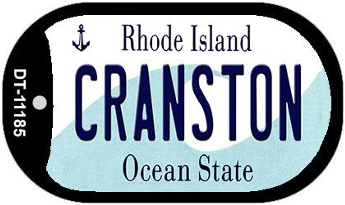 Cranston Rhode Island Novelty Metal Dog Tag Necklace DT-11185