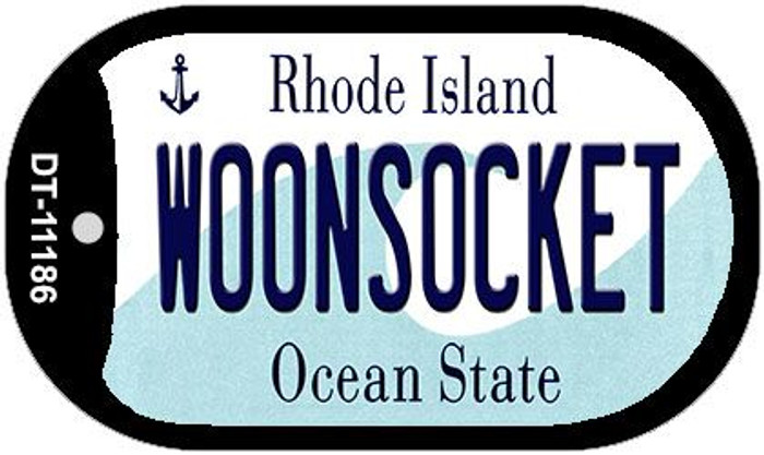 Woonsocket Rhode Island Novelty Metal Dog Tag Necklace DT-11186