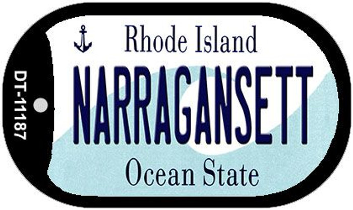 Narragansett Rhode Island Novelty Metal Dog Tag Necklace DT-11187