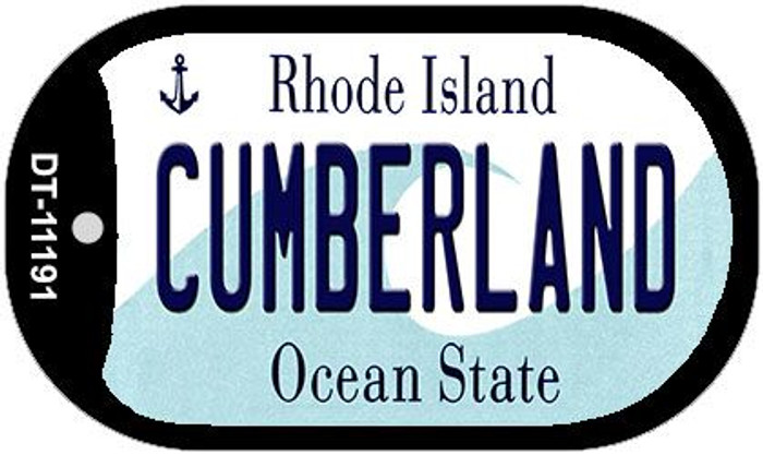 Cumberland Rhode Island Novelty Metal Dog Tag Necklace DT-11191