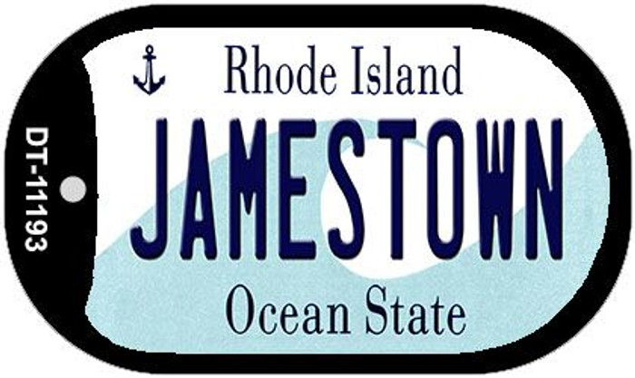 Jamestown Rhode Island Novelty Metal Dog Tag Necklace DT-11193