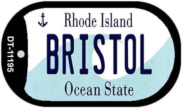Bristol Rhode Island Novelty Metal Dog Tag Necklace DT-11195