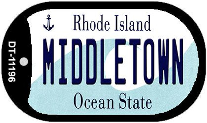 Middletown Rhode Island Novelty Metal Dog Tag Necklace DT-11196