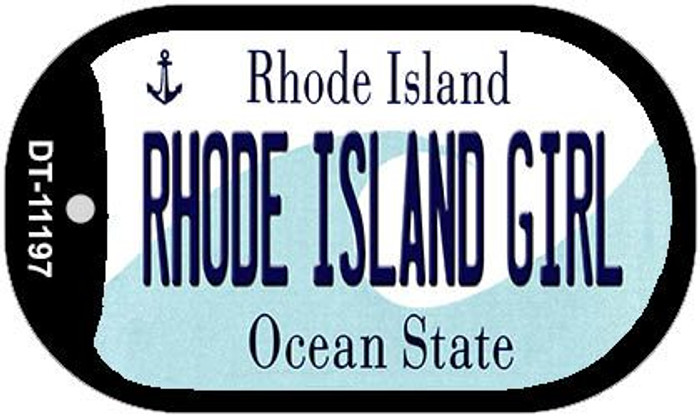 Rhode Island Girl Novelty Metal Dog Tag Necklace DT-11197