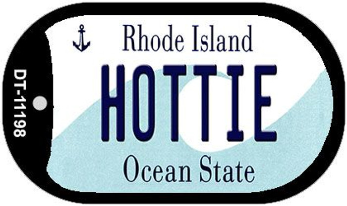 Hottie Rhode Island Novelty Metal Dog Tag Necklace DT-11198