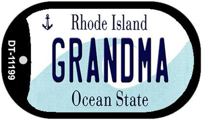 Grandma Rhode Island Novelty Metal Dog Tag Necklace DT-11199