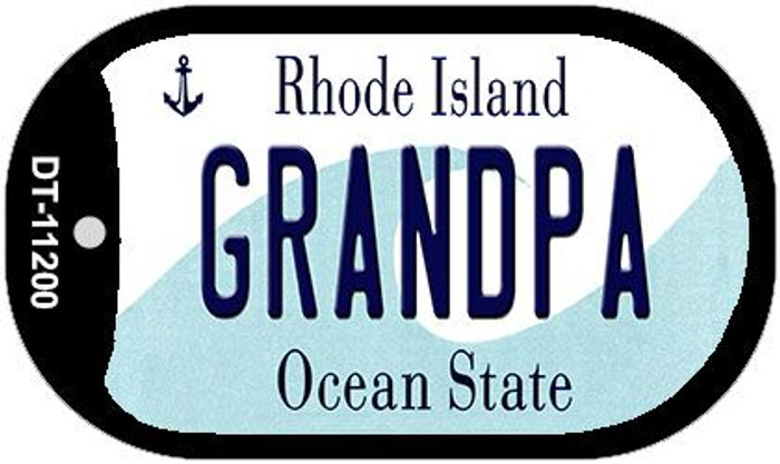 Grandpa Rhode Island Novelty Metal Dog Tag Necklace DT-11200