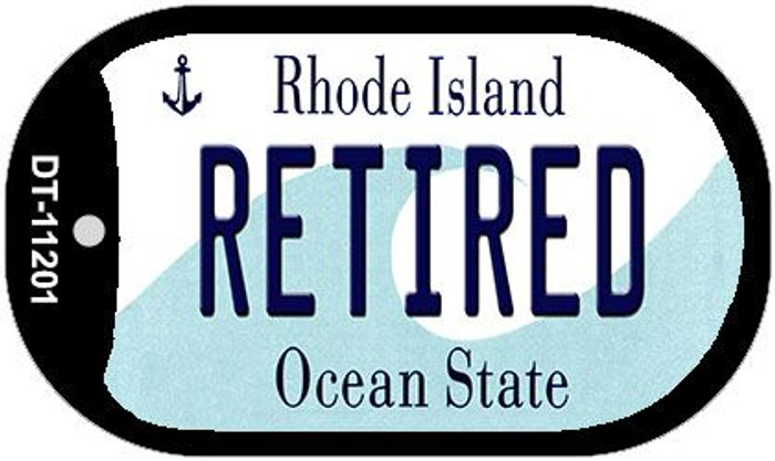 Retired Rhode Island Novelty Metal Dog Tag Necklace DT-11201