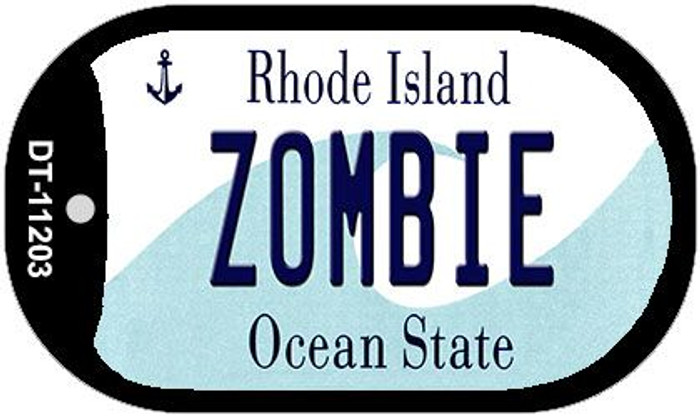 Zombie Rhode Island Novelty Metal Dog Tag Necklace DT-11203