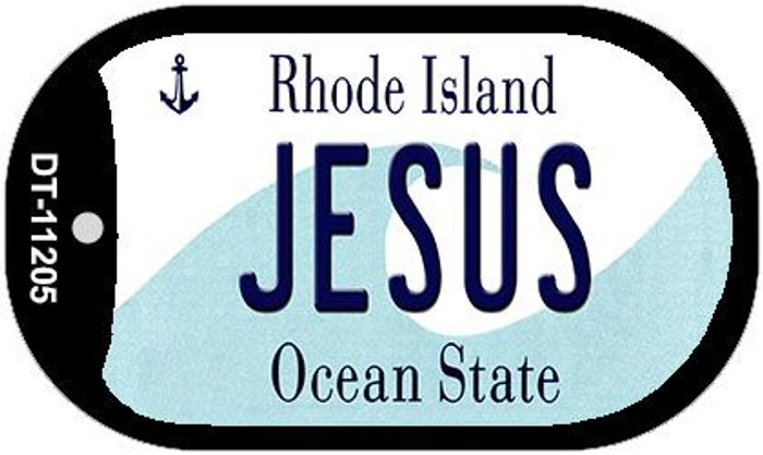 Jesus Rhode Island Novelty Metal Dog Tag Necklace DT-11205