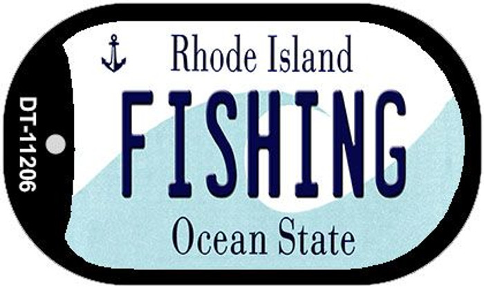 Fishing Rhode Island Novelty Metal Dog Tag Necklace DT-11206