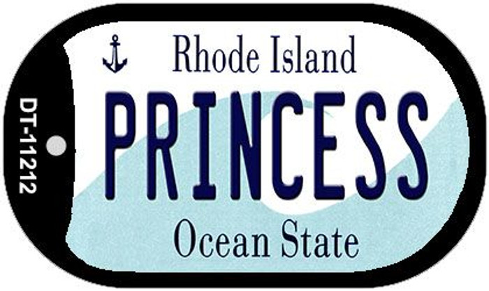 Princess Rhode Island Novelty Metal Dog Tag Necklace DT-11212