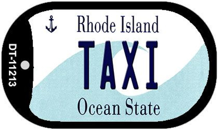 Taxi Rhode Island Novelty Metal Dog Tag Necklace DT-11213