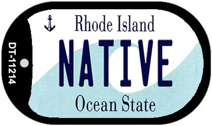 Native Rhode Island Novelty Metal Dog Tag Necklace DT-11214