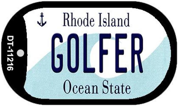 Golfer Rhode Island Novelty Metal Dog Tag Necklace DT-11216