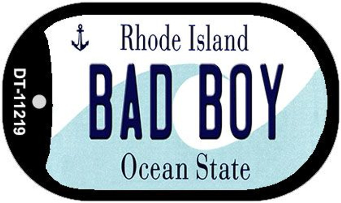 Bad Boy Rhode Island Novelty Metal Dog Tag Necklace DT-11219