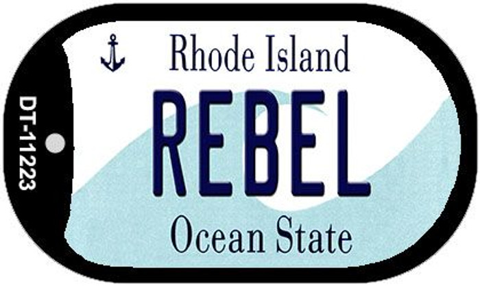 Rebel Rhode Island Novelty Metal Dog Tag Necklace DT-11223