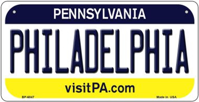 Philadelphia Pennsylvania Novelty Metal Bicycle Plate BP-6047