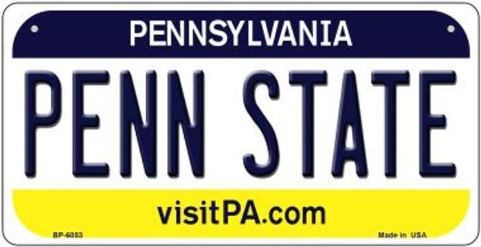 Penn State Pennsylvania Novelty Metal Bicycle Plate BP-6053
