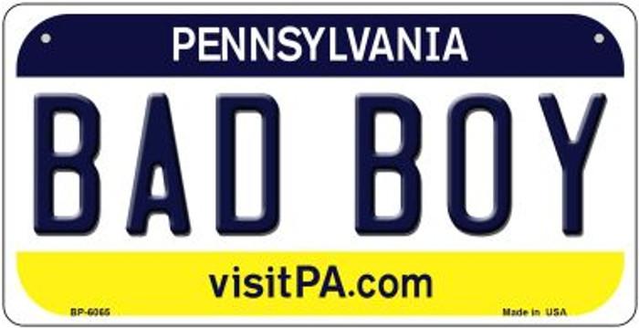 Bad Boy Pennsylvania Novelty Metal Bicycle Plate BP-6065
