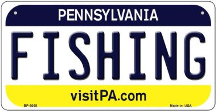 Fishing Pennsylvania Novelty Metal Bicycle Plate BP-6069