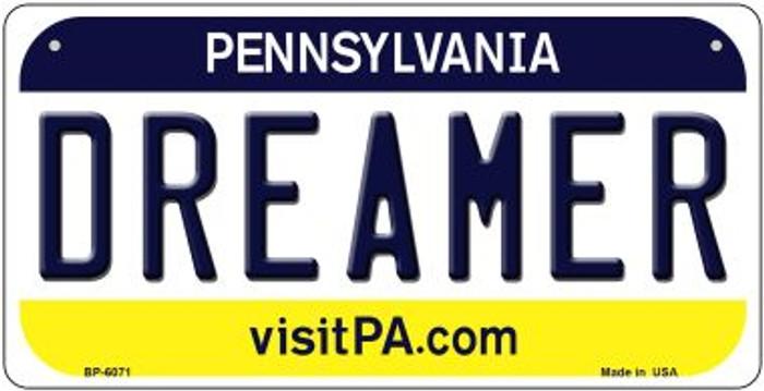 Dreamer Pennsylvania Novelty Metal Bicycle Plate BP-6071