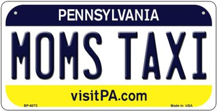 Moms Taxi Pennsylvania Novelty Metal Bicycle Plate BP-6073