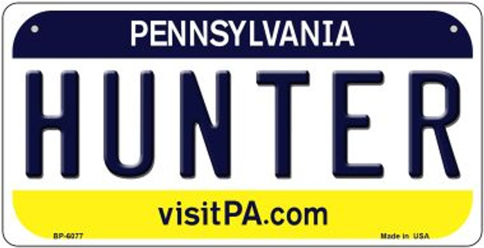 Hunter Pennsylvania Novelty Metal Bicycle Plate BP-6077