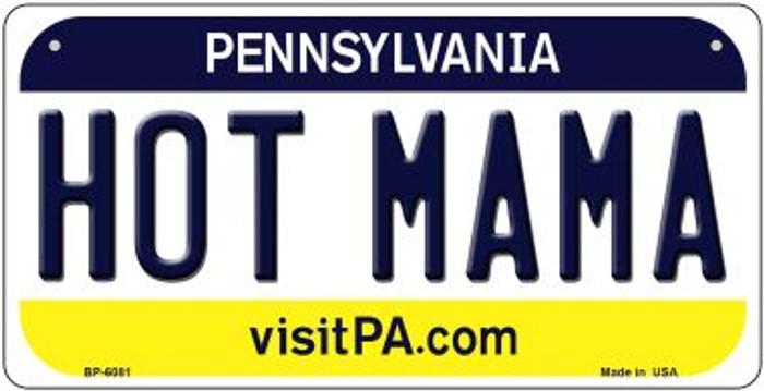 Hot Mama Pennsylvania Novelty Metal Bicycle Plate BP-6081
