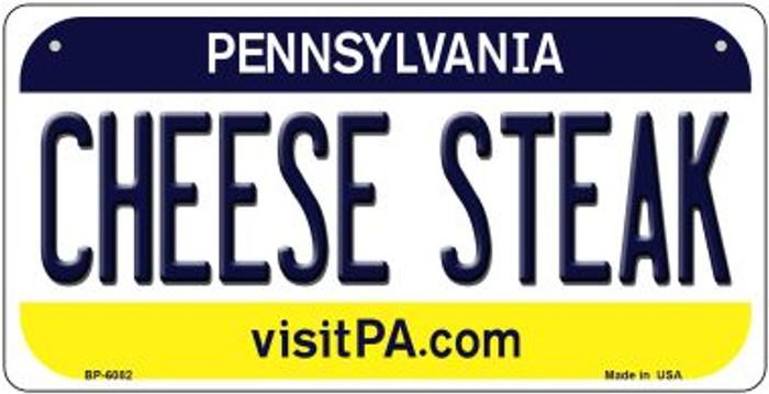 Cheese Steak Pennsylvania Novelty Metal Bicycle Plate BP-6082