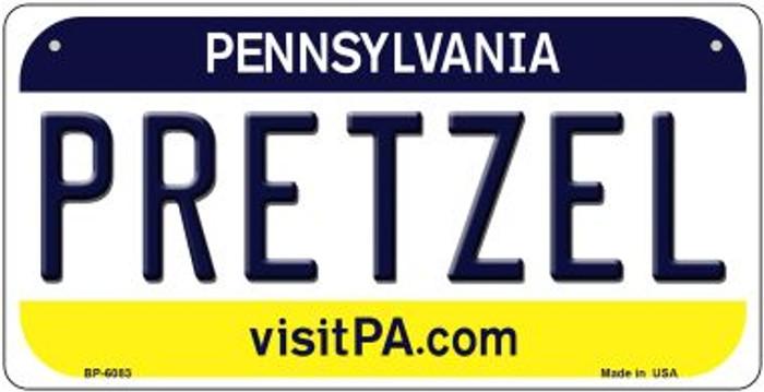 Pretzel Pennsylvania Novelty Metal Bicycle Plate BP-6083