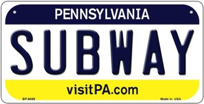 Subway Pennsylvania Novelty Metal Bicycle Plate BP-6086