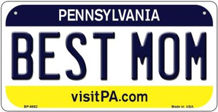 Best Mom Pennsylvania Novelty Metal Bicycle Plate BP-6662