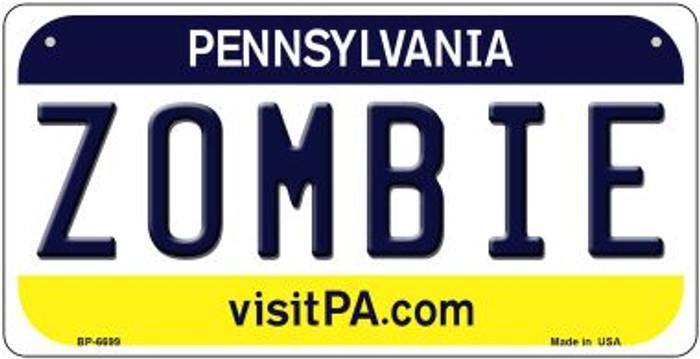 Zombie Pennsylvania Novelty Metal Bicycle Plate BP-6699