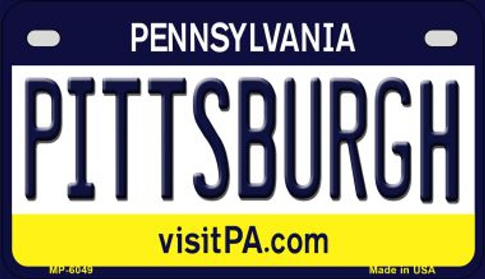 Pittsburgh Pennsylvania Novelty Metal Motorcycle Plate MP-6049
