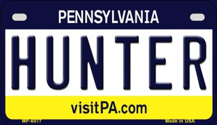 Hunter Pennsylvania Novelty Metal Motorcycle Plate MP-6077