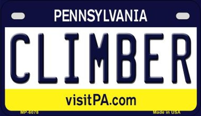 Climber Pennsylvania Novelty Metal Motorcycle Plate MP-6078