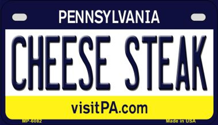Cheese Steak Pennsylvania Novelty Metal Motorcycle Plate MP-6082