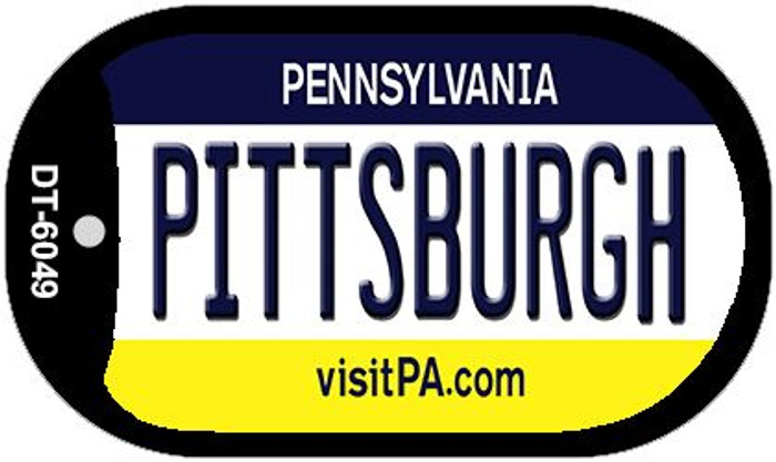 Pittsburgh Pennsylvania Novelty Metal Dog Tag Necklace DT-6049