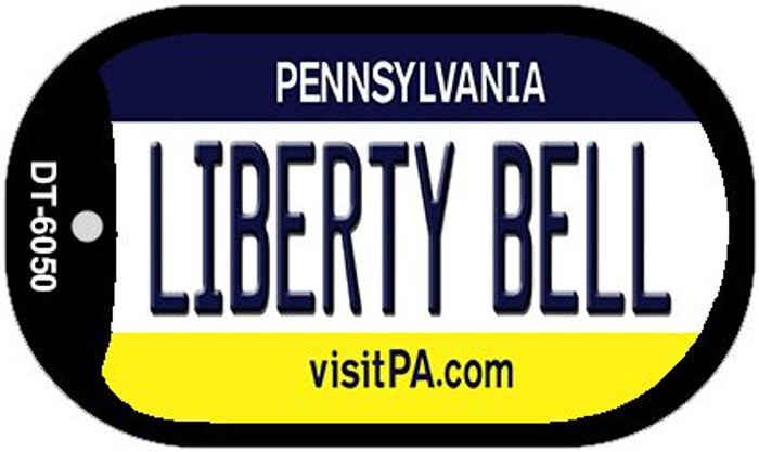 Liberty Bell Pennsylvania Novelty Metal Dog Tag Necklace DT-6050