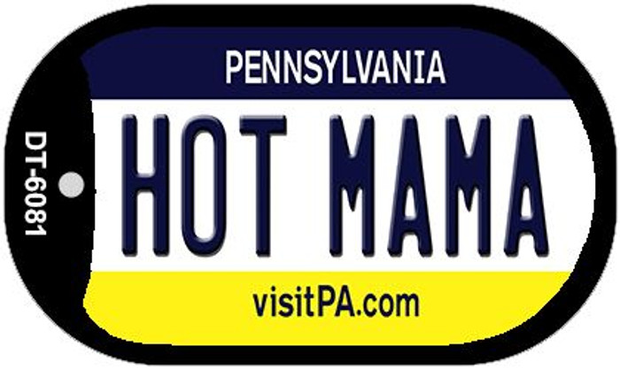 Hot Mama Pennsylvania Novelty Metal Dog Tag Necklace DT-6081