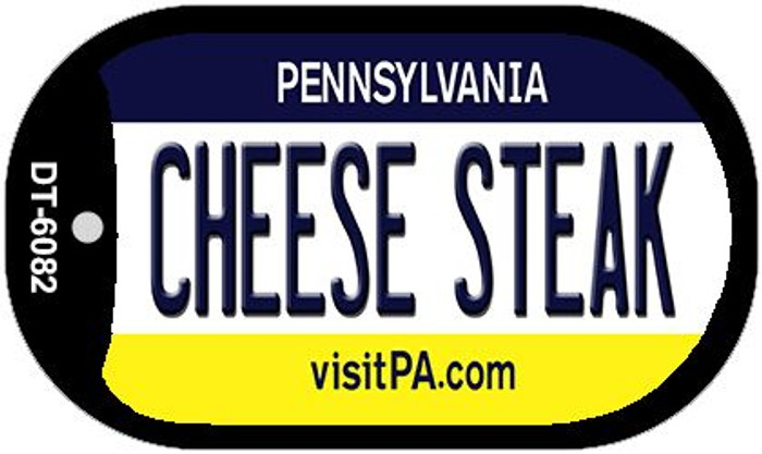 Cheese Steak Pennsylvania Novelty Metal Dog Tag Necklace DT-6082