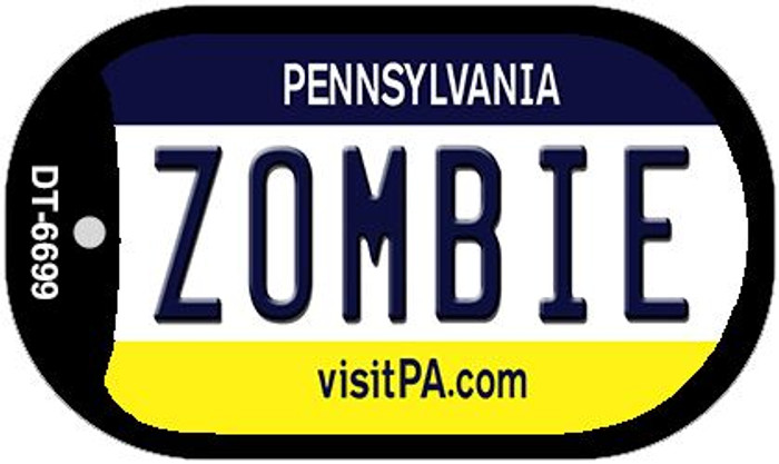 Zombie Pennsylvania Novelty Metal Dog Tag Necklace DT-6699