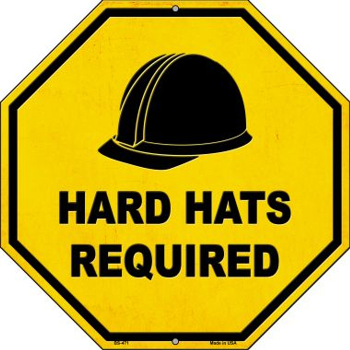 Hard Harts Required Novelty Metal Stop Sign BS-471