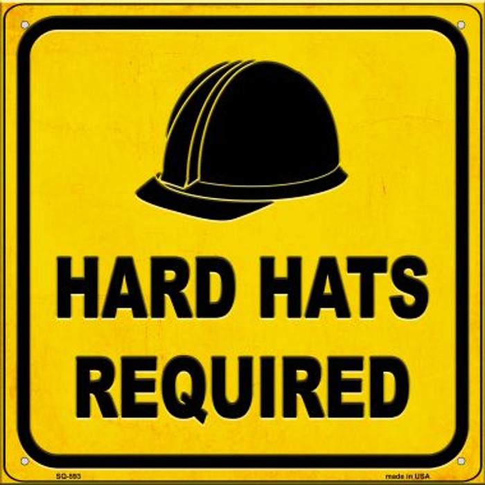 Hard Harts Required Novelty Metal Square Sign SQ-593