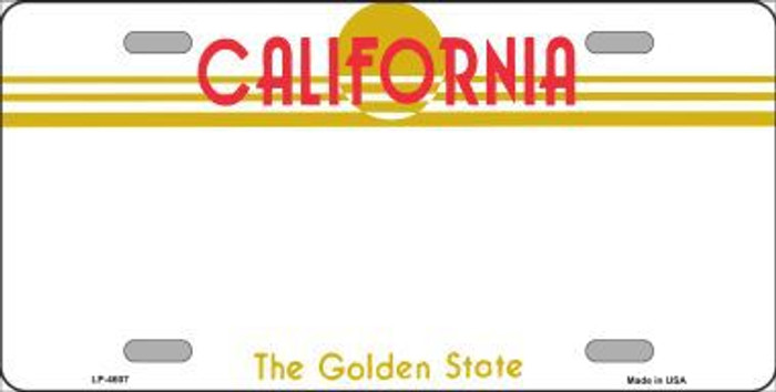 California Novelty State Background Blank Metal License Plate LP-4607