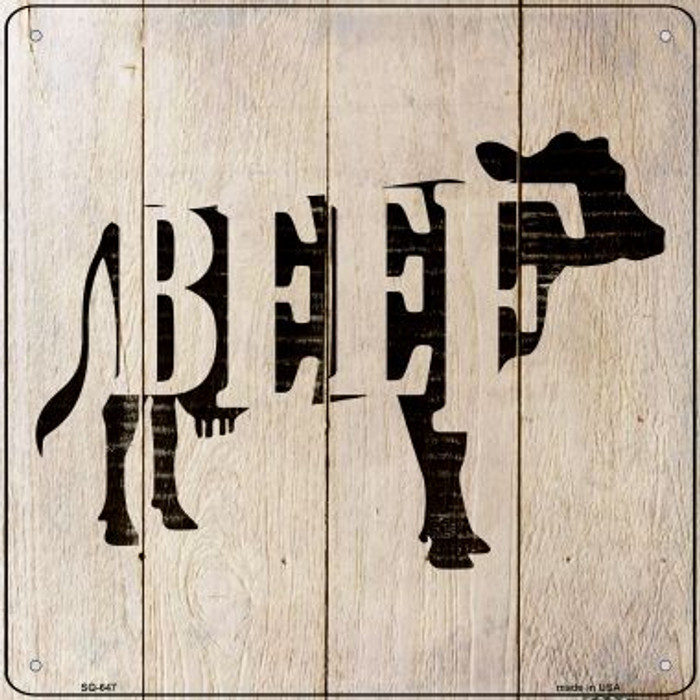 Cows Make Beef Novelty Metal Square Sign SQ-647