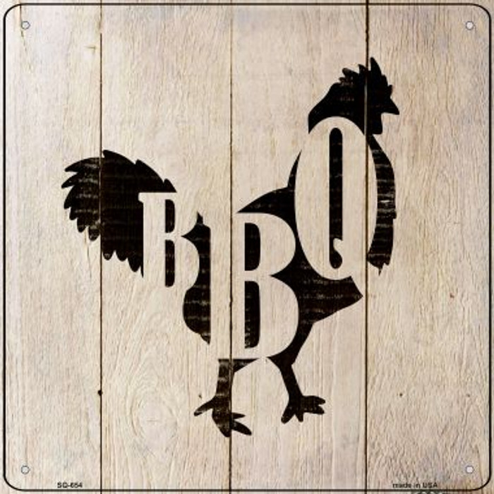 Chickens Make BBQ Novelty Metal Square Sign SQ-654