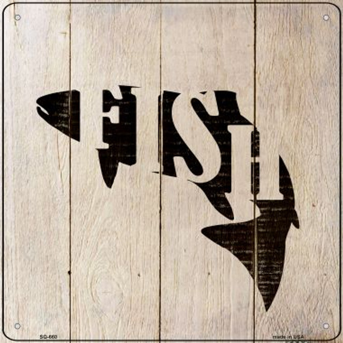 Fish Make Fish Novelty Metal Square Sign SQ-660